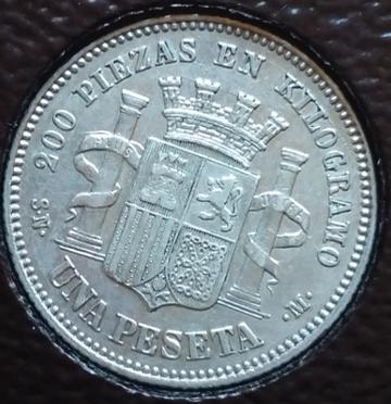 1 peseta 1869. Gobierno Provisional  5KlR1